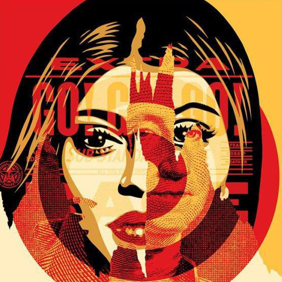 "SHEPARD FAIREY SIGNED LIMITED EDITION SCREEN PRINT ""MEDIA TARGET"""