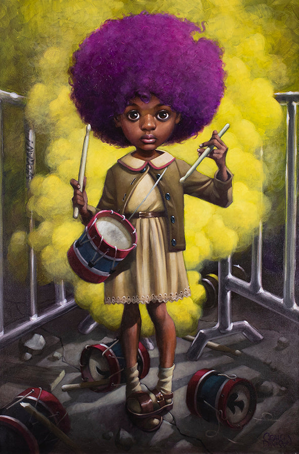 Craig Davison - ' Sound Of The Funky Drummer ' - Original and Limited Edition Art