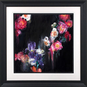 """Dark Flora"" Botanical Collection by Katy Jade Dobson (framed original oil painting)"