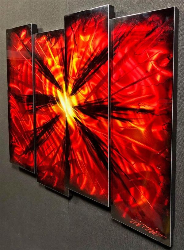 Chris DeRubeis - '4 Panel Red Burst Derubeis 1506046' - Original Art
