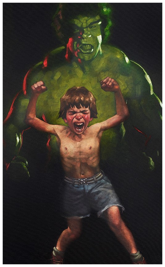 Craig Davison - ' Dr Bruce Banner is Bathed in the Full Force of the Mysterious Gamma Rays ' - Limited Edition Art