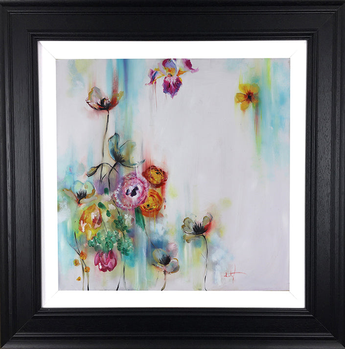 """Sweet Floret "" Botanical Collection by Katy Jade Dobson (framed original oil painting)"