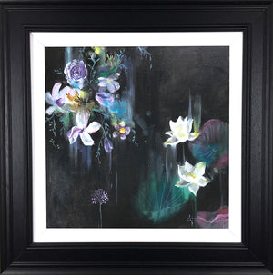 """Velvet Lily "" Botanical Collection by Katy Jade Dobson (framed original oil painting)"