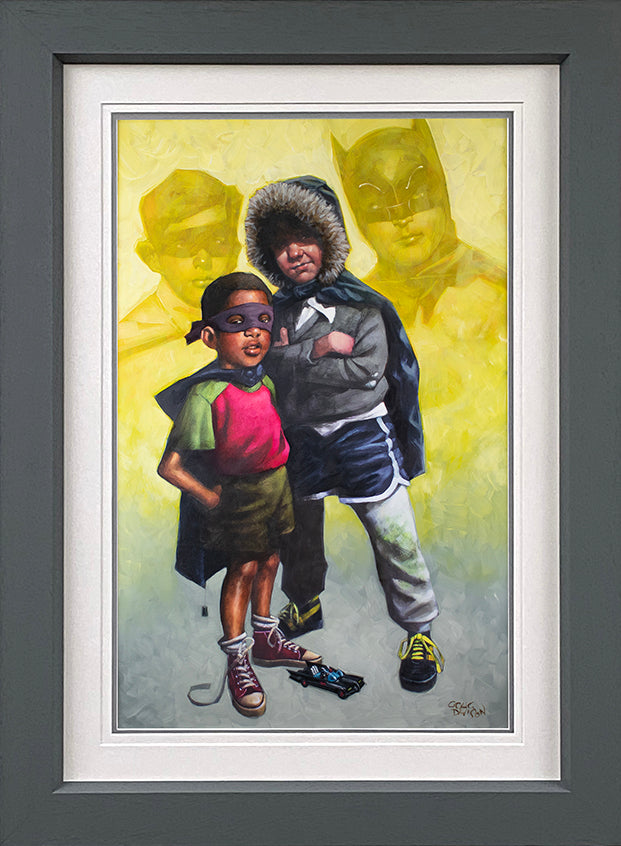Craig Davison - 'Caped Crusaders Lenticular '- Framed Limited Edition