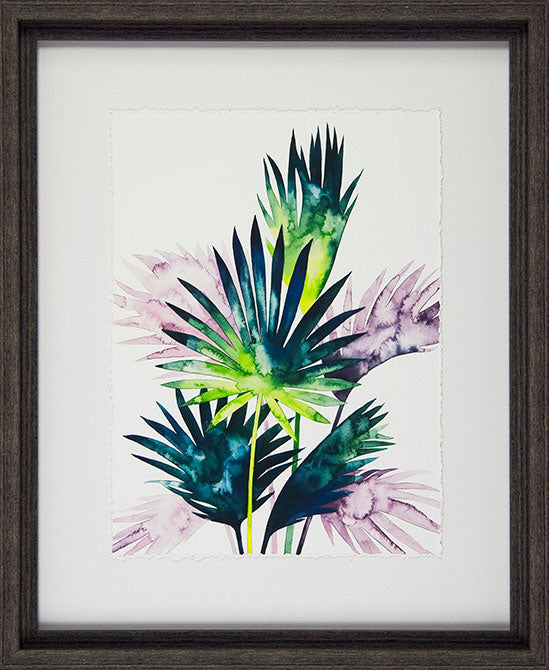 Grace Popp  'Twilight Palms - Set of 4' - Framed Open Edition Art