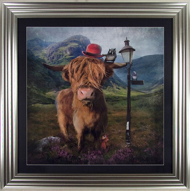 Matylda Konecka   ' Highland Cow' - Framed Open Edition Print