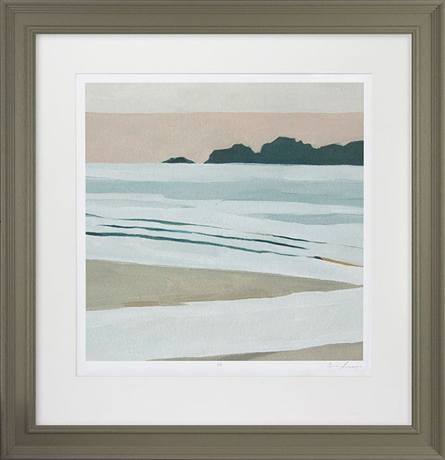 Emma Scarvey ' Coastal Lines I' - Framed Open Edition Print