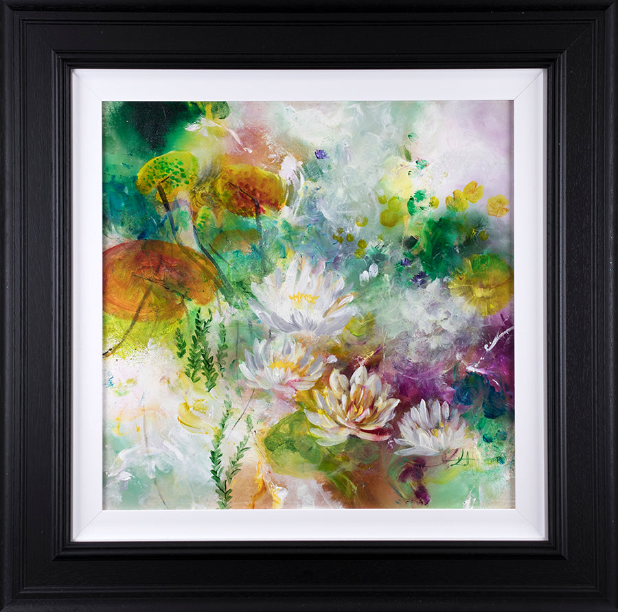 """Lotus "" Botanical Collection by Katy Jade Dobson (framed original oil painting)"