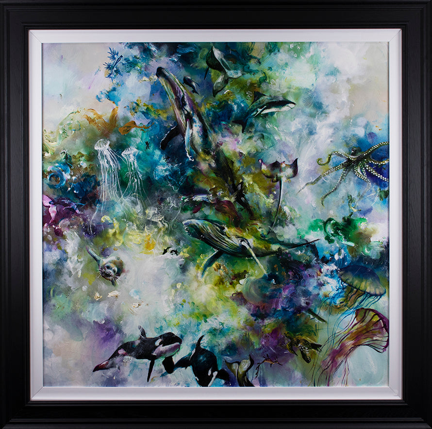 """Odysey "" Botanical Collection by Katy Jade Dobson (framed original oil painting)"