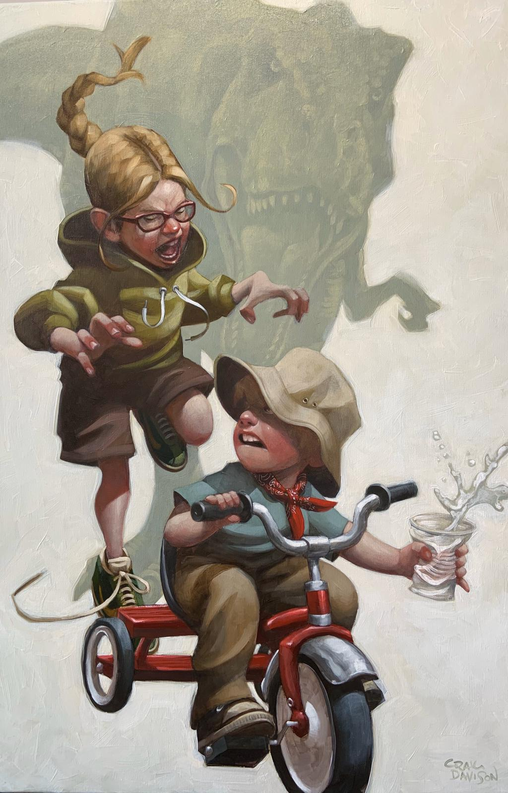 Craig Davison - ' Keep Absolutely Still, Her Vision is Based on Movement' - Limited Edition Art & Original