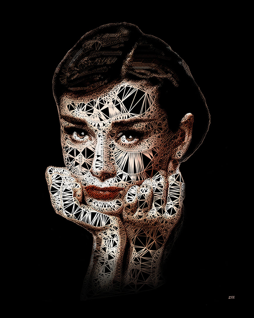Zee - 'Audrey' - Cotton Collection' - Limited Edition Art