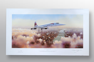 """Concorde Comes Home"" by Adrian Rigby (limited edition print) - New Look Art"