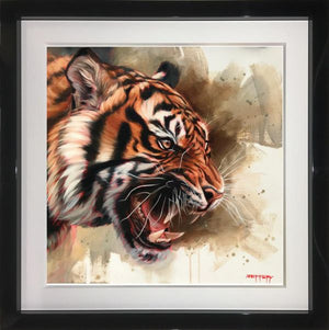 Ben Jeffery - Wildcat - Framed Original Acrylic on Canvas