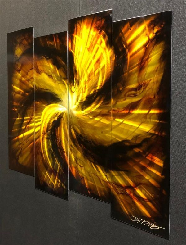 Chris DeRubeis - 'GOLD BURST - 4 PANEL 1604122' - Original Art