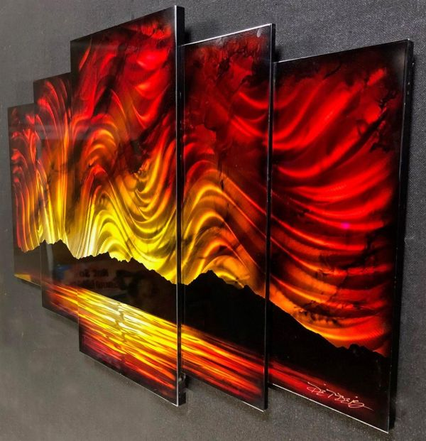 Chris DeRubeis - 'Sunset  Red 5 Panel Original By Derubeis Cons 160700' - Original Art