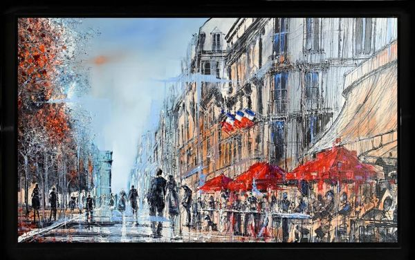Nigel Cooke - 'Coffee In Paris' - Original Art