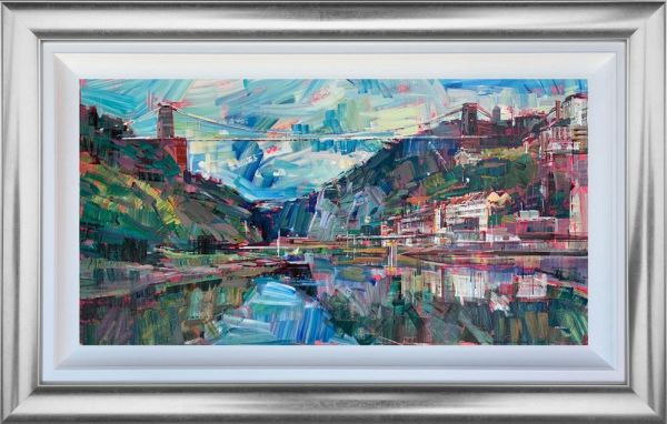 Colin Brown - 'Clifton's Famous Bridge' - Framed Original Art