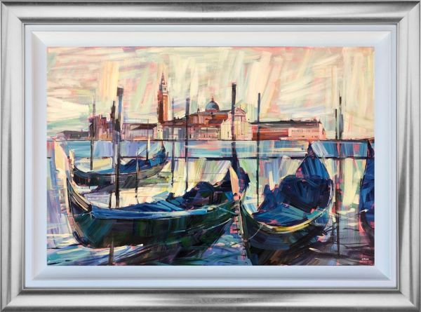 Colin Brown - 'Gondolas At Rest' - Original Art