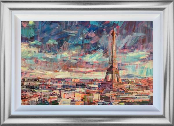 Colin Brown - 'Paris Rooftop' - Framed Original Art