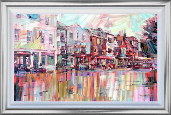 Colin Brown - 'Salisbury Market Square' - Framed Original Art