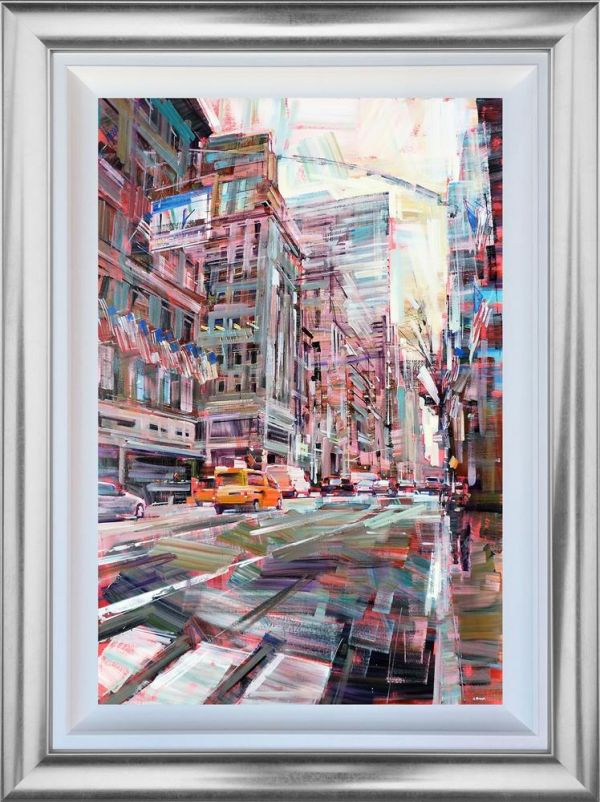 Colin Brown - 'Walking Through New York' - Framed Original Art