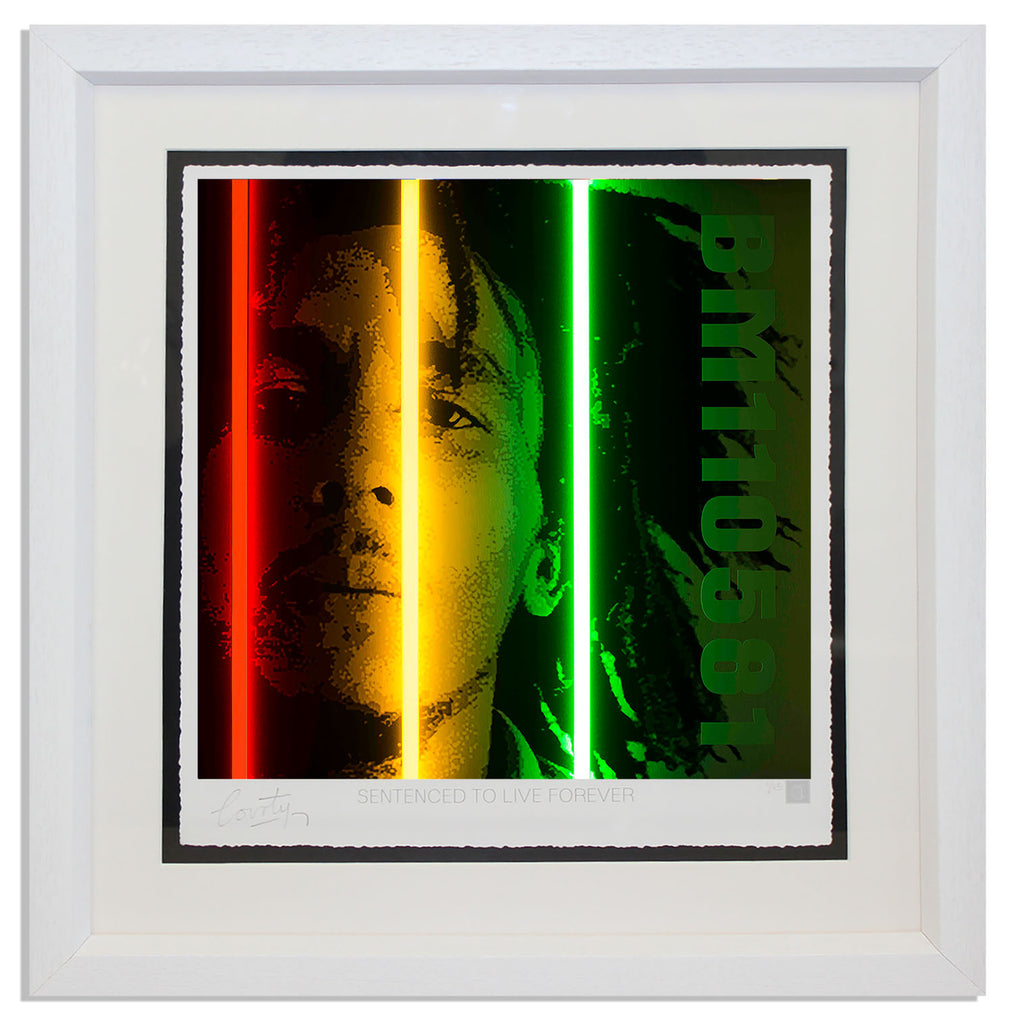 """Bob Marley"" by Courty (FRAMED limited edition screen print)"