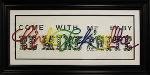 """Cinderfuckin'Rella"" by Courty (FRAMED limited edition screen print) - New Look Art"