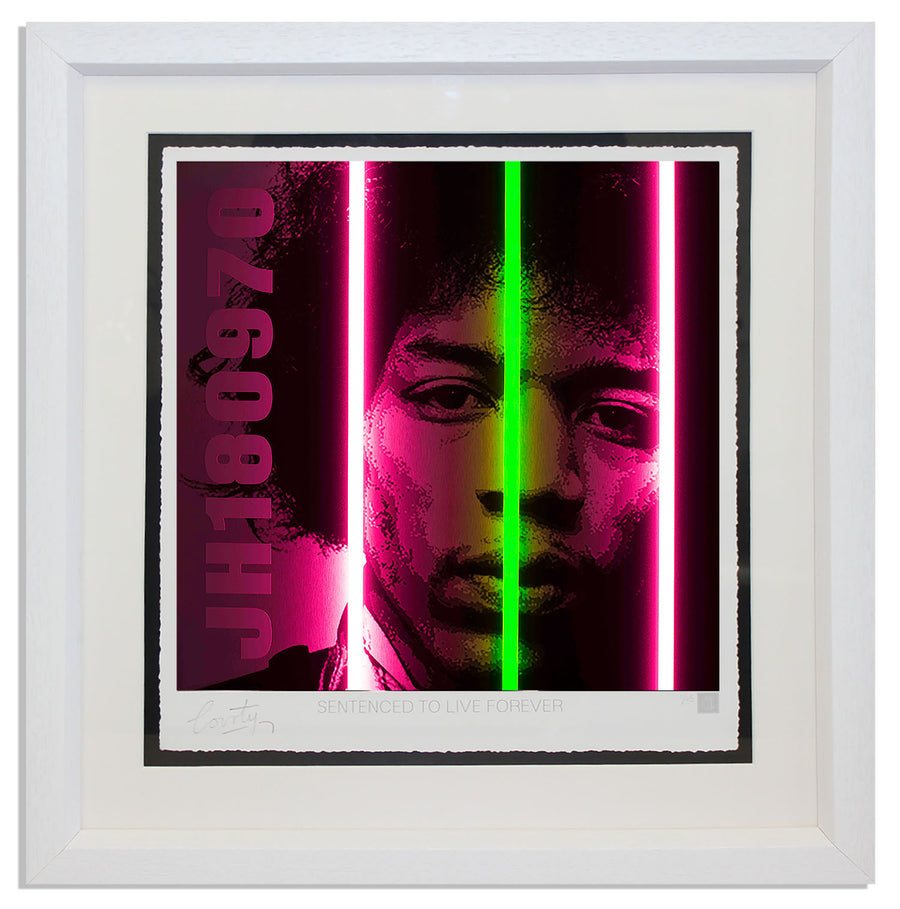 """Jimi Hendrix"" by Courty (FRAMED limited edition screen print)"