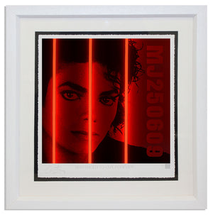 """Michael Jackson"" by Courty (FRAMED limited edition screen print)"