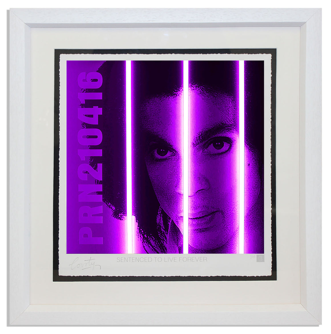 """Prince"" by Courty (FRAMED limited edition screen print)"