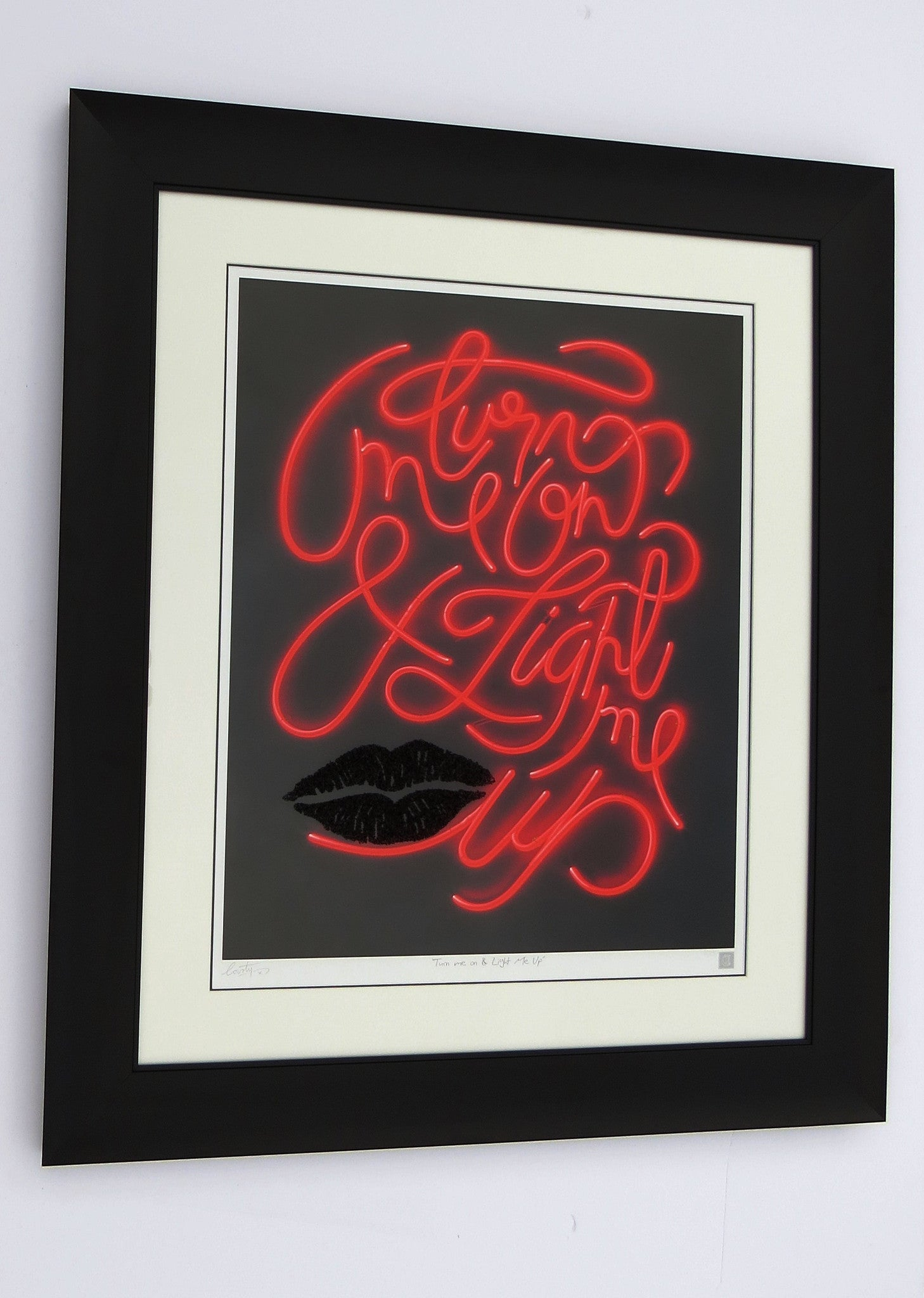 """Turn me on and Light me up"" by Courty (FRAMED limited edition print) - New Look Art"