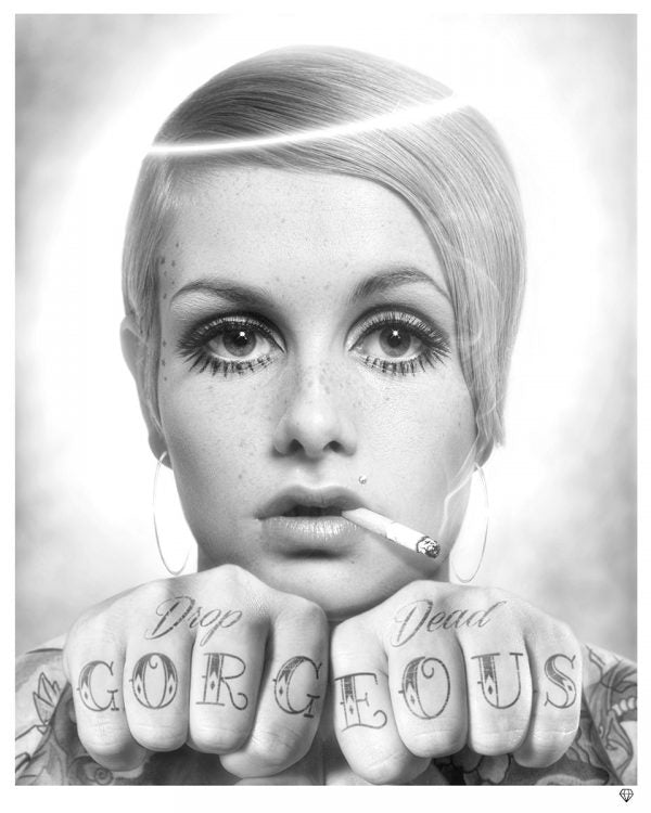 """Drop Dead Gorgeous"" (Black and White) by JJ Adams (limited edition print)"
