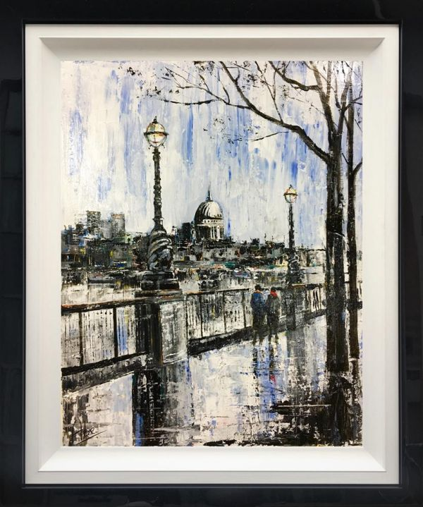 Abe - 'Embankment Stroll' - Original Art