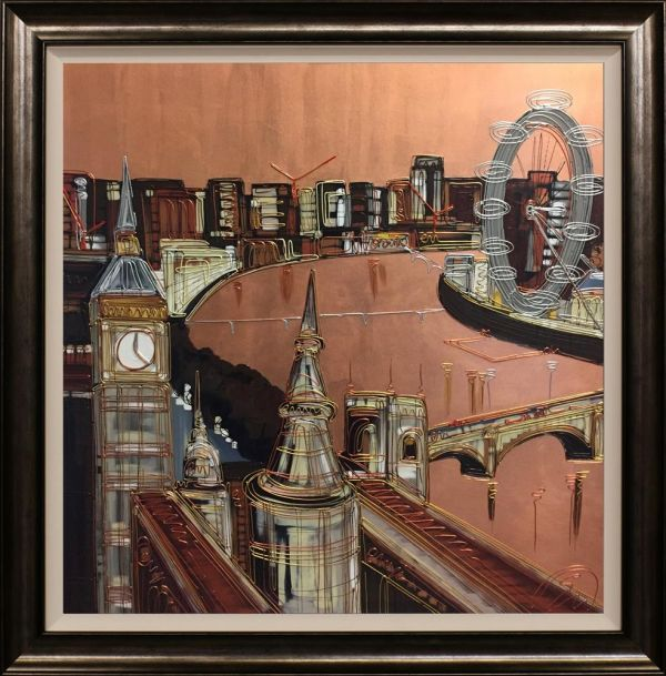 Edward Waite - 'Copper hues over London' - Original Art