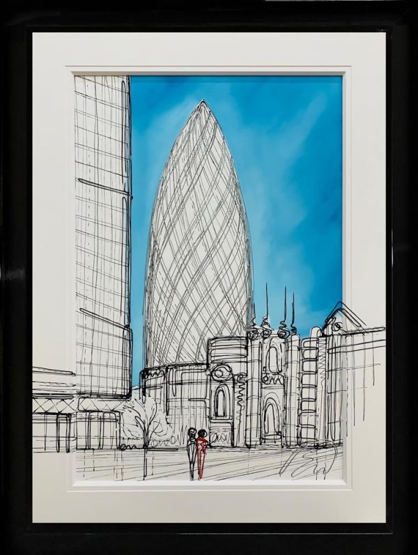 Edward Waite - 'The Gherkin' - Original Art