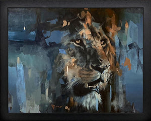 Frank Pretorius - 'Panthera Leo' (Lion) - Framed Original Art