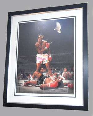 """Ali vs Liston"" by JJ Adams (FRAMED limited edition print) - New Look Art"