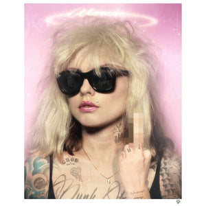 """Atomic Girl"" (Blondie) Colour Tattoo by JJ Adams (limited edition print)"
