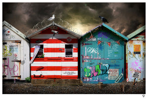 """Beach Huts"" by JJ Adams (limited edition print) - New Look Art"