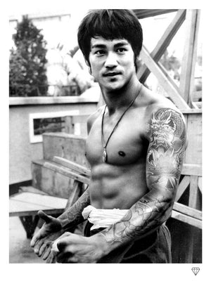 """Bruce Lee Tattoo"" by JJ Adams (limited edition print) - New Look Art"