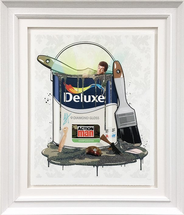 JJ Adams - 'Deluxe Paint Can - Action Man' - Limited Edition Print & Original
