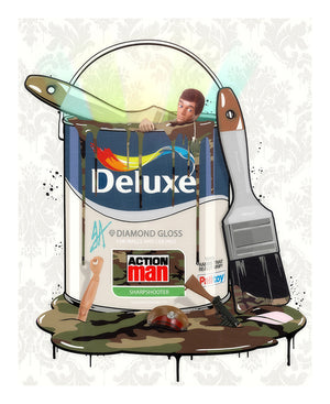"""Deluxe Paint Can - Action Man"" by JJ Adams (limited edition print)"