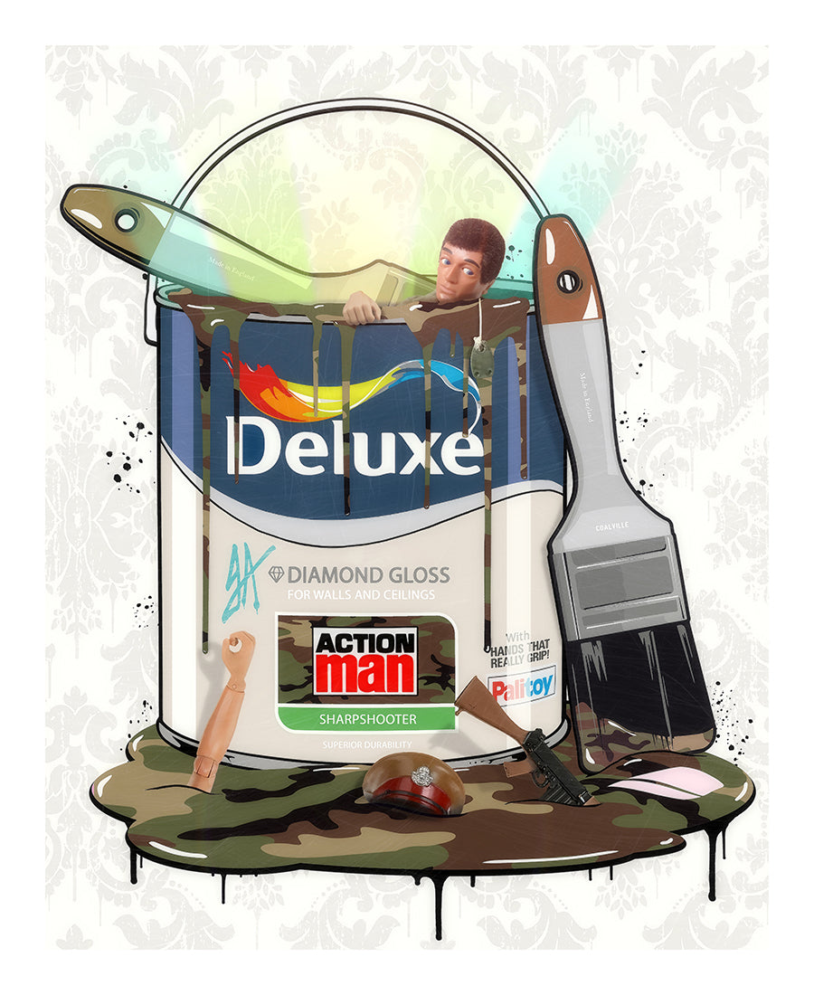 JJ Adams - 'Deluxe Paint Can - Action Man' - Limited Edition Print