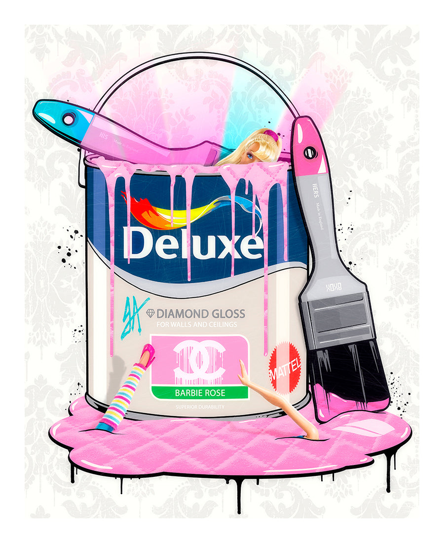 JJ Adams - 'Deluxe Paint Can - Barbie' - Limited Edition Print & Original
