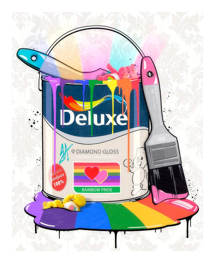 JJ Adams - 'Deluxe Paint Can - Care Bears' - Limited Edition Print & Original