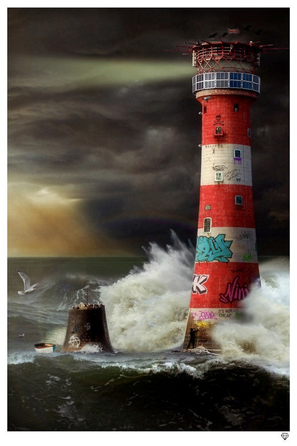 """Eddystone Lighthouse"" by JJ Adams (limited edition print) - New Look Art"