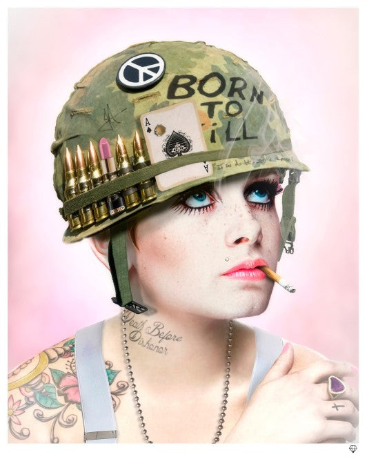 """Full Metal Twiggy (Colour)"" by JJ Adams (limited edition print) - New Look Art"