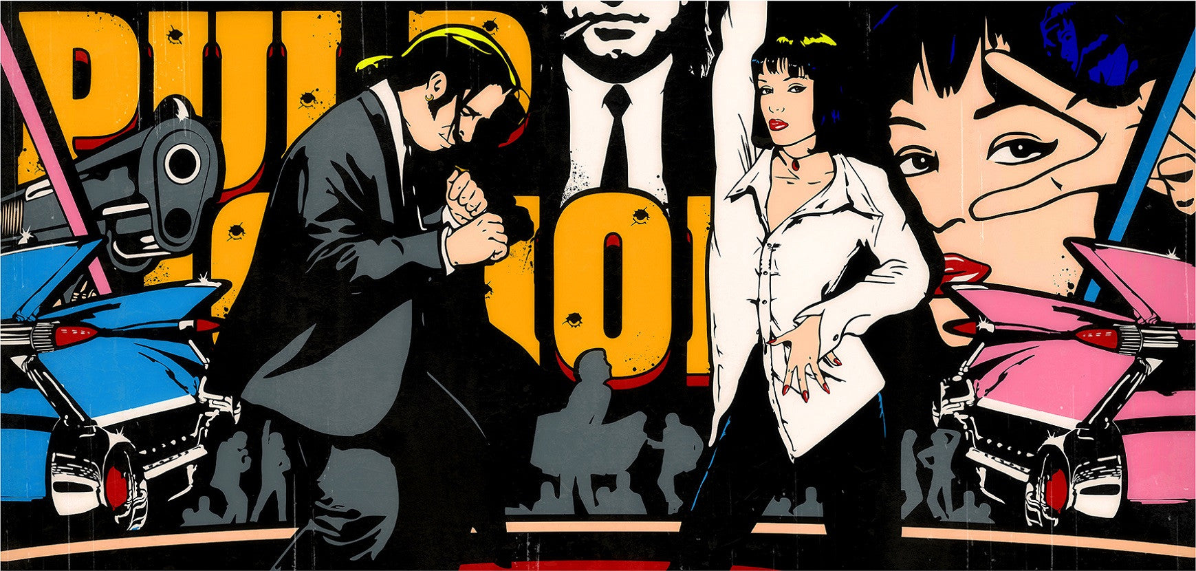 """Jack Rabbit Sims"" (Pulp Fiction) by JJ Adams (limited edition print) - New Look Art"