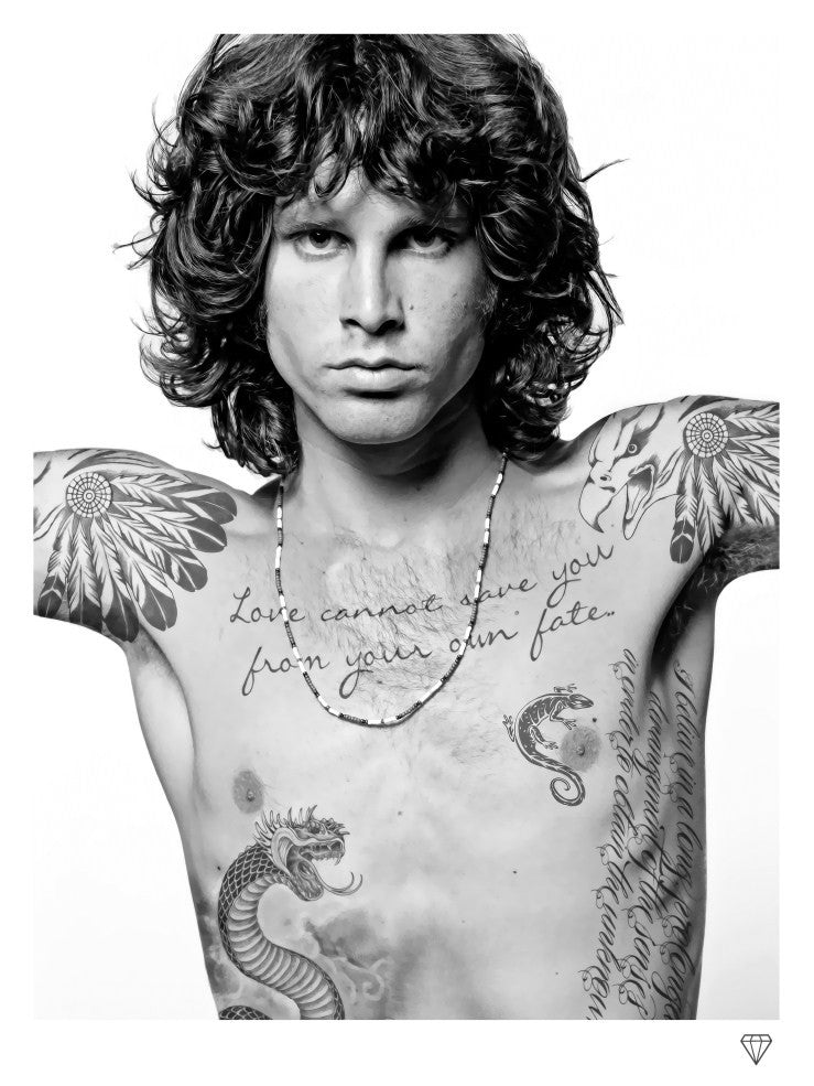 """Jim Morrison"" by JJ Adams (limited edition print) - New Look Art"