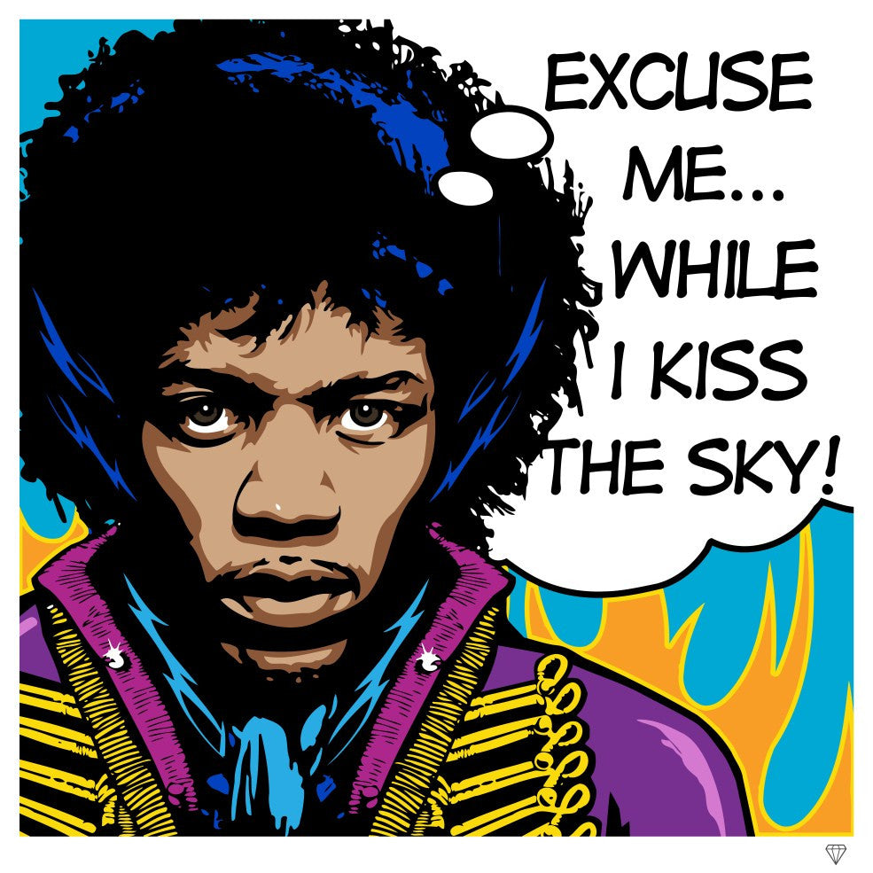 """Jimi Hendrix"" by JJ Adams (limited edition print) - New Look Art"